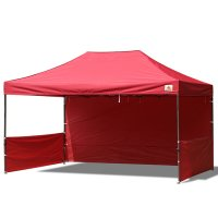 AbcCanopy 10x15 Deluxe Burgundy Pop Up Canopy Trade Show Both