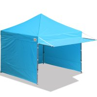 10x10 AbcCanopy Easy Pop up Canopy Tent Instant Shelter Deluxe Portable Market Canopy awning-Sky Blue