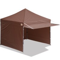 10x10 AbcCanopy Easy Pop up Canopy Tent Instant Shelter Deluxe Portable Market Canopy awning-Brown