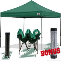 AbcCanopy 10x10 King Kong Forest Green Canopy Instant Shelter Outdor Party Tent Gazebo with carry bag
