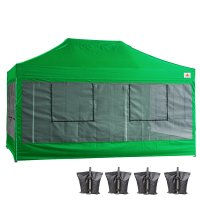 10X15 AbcCanopy Deluxe Kelly Green Food Vendor PackageTent with Roller Bag