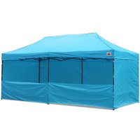 AbcCanopy 10x20 Deluxe Sky Blue Pop Up Canopy Trade Show Both