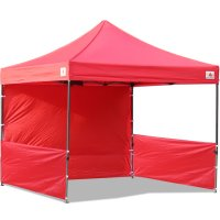AbcCanopy 10x10 Deluxe Red Pop Up Canopy Trade Show Both