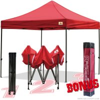 AbcCanopy 10x10 King Kong Red Canopy Instant Shelter Outdor Party Tent Gazebo with carry bag