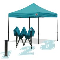 AbcCanopy 10x10 King Kong Turquoise Canopy Instant Shelter Outdor Party Tent Gazebo