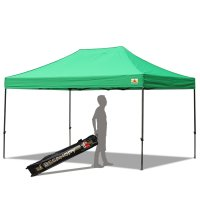 AbcCanopy 10x15 Deluxe Kelly Green Pop Up Canopy With Roller Bag
