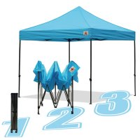 AbcCanopy 10x10 King Kong Sky Blue Canopy Instant Shelter Outdor Party Tent Gazebo