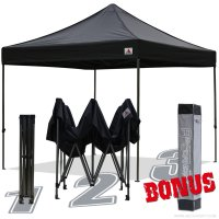 AbcCanopy 10x10 King Kong Black Canopy Instant Shelter Outdor Party Tent Gazebo with carry bag