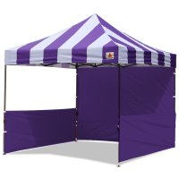 AbcCanopy Carnival 10x10 Purple With Purple Walls Pop Up Tent Trade Show Booth Canopy W/ Wheeled bag