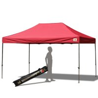 AbcCanopy 10x15 Deluxe Burgundy Pop Up Canopy With Roller Bag