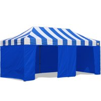 AbcCanopy Carnival Canopy 10x20 Blue With Blue Walls Ez Part Tent Bouns 9 Wall