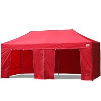 AbcCanopy 10x20 Deluxe Red Package Tent With Roller Bag