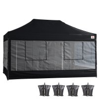 10X15 AbcCanopy Deluxe Black Food Vendor PackageTent with Roller Bag