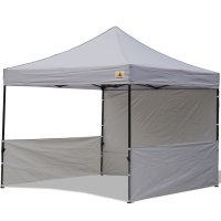 AbcCanopy 10x10 Deluxe Gray Pop Up Canopy Trade Show Both