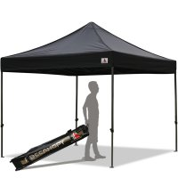 Abccanopy 10x10 Deluxe Black Pop Up Canopy With Roller Bag
