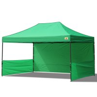 AbcCanopy 10x15 Deluxe Kelly Green Pop Up Canopy Trade Show Both