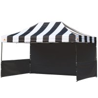 AbcCanopy Carnival 10x15 Black With Black Walls Pop Up Tent Trade Show Booth Canopy W/ Wheeled bag