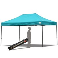 AbcCanopy 10x15 Deluxe Turquoise Pop Up Canopy With Roller Bag