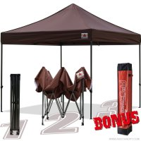 AbcCanopy 10x10 King Kong Brown Canopy Instant Shelter Outdor Party Tent Gazebo with carry bag