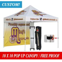 Custom Printed 10x10 Marquee Canopy Pop Up Canopy w/ your logo