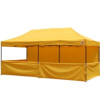 AbcCanopy 10x20 Deluxe Gold Pop Up Canopy Trade Show Both