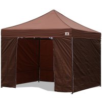AbcCanopy 10x10 Brown Deluxe Ez Pop Up Canopy Package