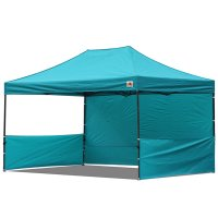 AbcCanopy 10x15 Deluxe Turquoise Pop Up Canopy Trade Show Both