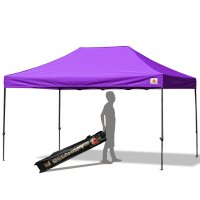 AbcCanopy 10x15 Deluxe Purple Pop Up Canopy With Roller Bag