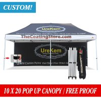 AbcCanopy full digital printed 10x20 Custom Canopy tent Gazebo with 20ft back wall