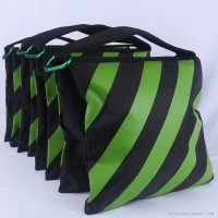 Abccanopy stripe kelly green weight bag-Set of 4