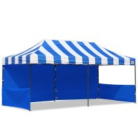 AbcCanopy Carnival 10x20 Blue With Blue Walls Pop Up Tent Trade Show Booth Canopy W/ Wheeled bag