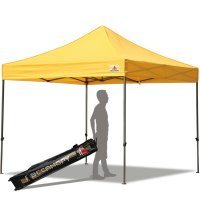 Abccanopy 10x10 Deluxe Gold Pop Up Canopy With Roller Bag