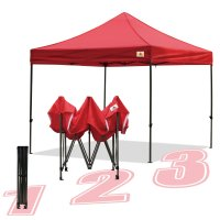 AbcCanopy 10x10 King Kong Red Canopy Instant Shelter Outdor Party Tent Gazebo