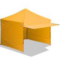 10x10 AbcCanopy Easy Pop up Canopy Tent Instant Shelter Deluxe Portable Market Canopy awning-Gold