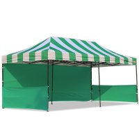AbcCanopy Carnival 10x20 Green With Green Walls Pop Up Tent Trade Show Booth Canopy W/ Wheeled bag