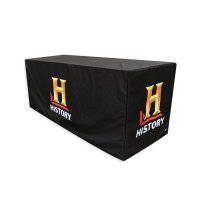 Custom Printed Table Cover 6ft Trade Show Tablecover Full Color 6' Fitted Style