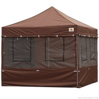 10X10 AbcCanopy Deluxe Brown Food Vendor PackageTent with Roller Bag