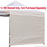 AbcCanopy 10' Sun Wall for 10'x 10' straight leg pop up canopy Tent, 10' Sidewall kit (1 Panel) with Truss Straps