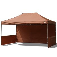 AbcCanopy 10x15 Deluxe Brown Pop Up Canopy Trade Show Both