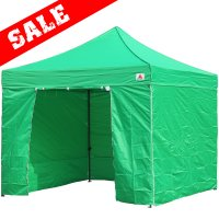AbcCanopy 10x10 Deluxe Kelly Green Ez Pop Up Canopy Package