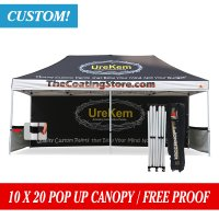AbcCanopy 10x20 Custom Canopy Tent Custom Printed Trade Show Gazebo Bouns Wheeled Bag