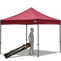 Abccanopy 10x10 Deluxe Burgundy Pop Up Canopy With Roller Bag