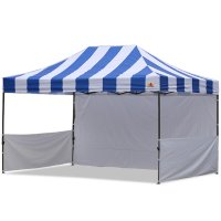 AbcCanopy Carnival 10x15 Blue With White Walls Pop Up Tent Trade Show Booth Canopy W/ Wheeled bag