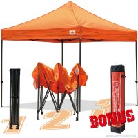 AbcCanopy 10x10 King Kong Orange Canopy Instant Shelter Outdor Party Tent Gazebo with carry bag