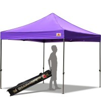 Abccanopy 10x10 Deluxe Purple Pop Up Canopy With Roller Bag