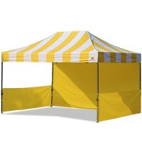 AbcCanopy Carnival 10x15 Yellow With Yellow Walls Pop Up Tent Trade Show Booth Canopy W/ Wheeled bag