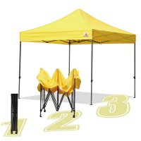 AbcCanopy 10x10 King Kong Yellow Canopy Instant Shelter Outdor Party Tent Gazebo