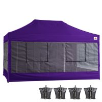 10X15 AbcCanopy Deluxe Purple Food Vendor PackageTent with Roller Bag