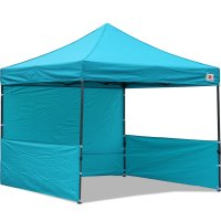AbcCanopy 10x10 Deluxe Turquoise Pop Up Canopy Trade Show Both