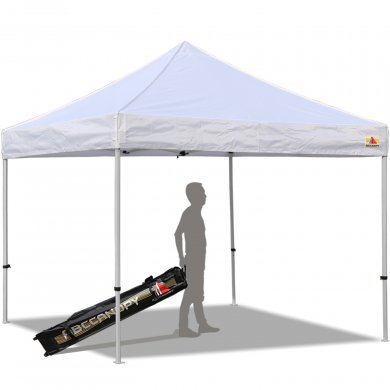 Abccanopy 10x10 PRO-40 White Pop Up Canopy With Roller Bag